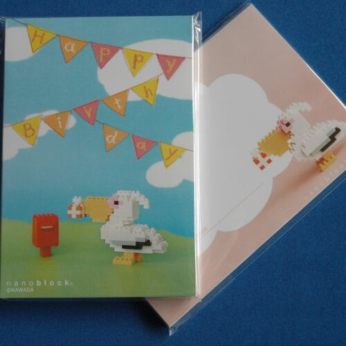 nanoblock Greeting card with block toy Pelican