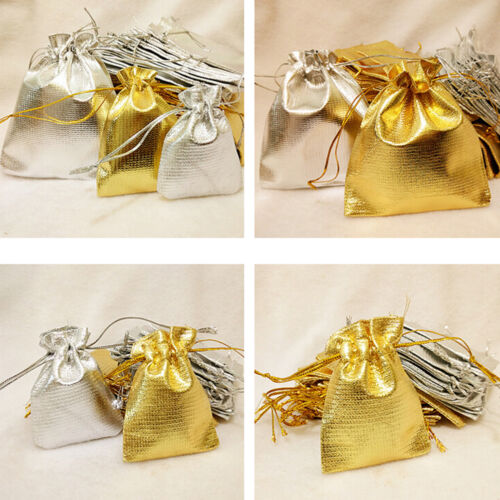 10//20//50 Pcs Organza Wedding Party Favor Candy Bag Jewelry Packing Gift ODJB