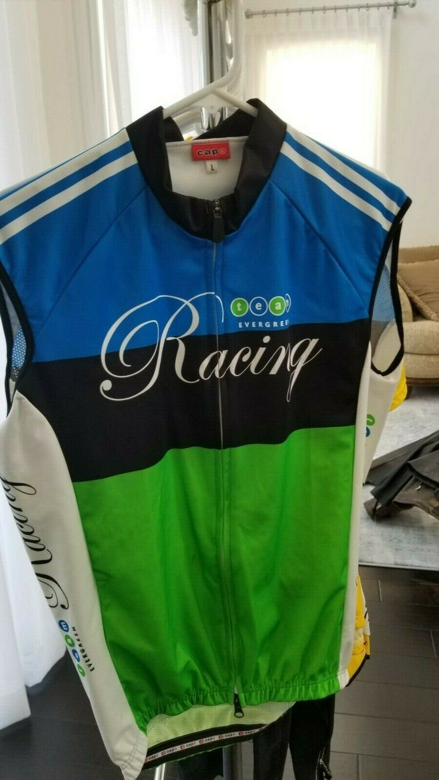 NEW CAPO Men's Cycling Vest sz L Team  Evergreen  we take customers as our god