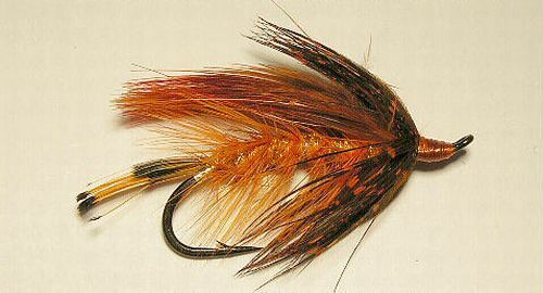 2//0  Salmon Steelhead Flies orange October Spey