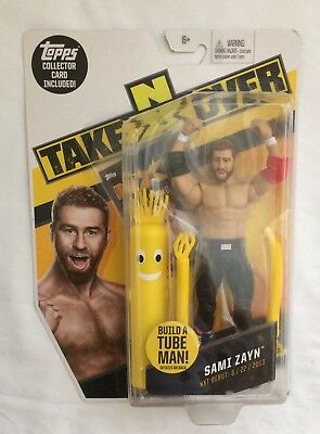 Wrestling WWE NXT Takeover Sami Zayn Action Figure with Topps Card
