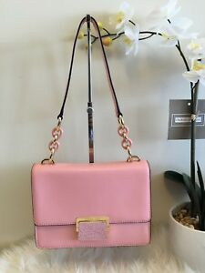 467b9a879049 Image is loading Michael-Kors-Cynthia-Small-Pale-Pink-Leather-Shoulder-