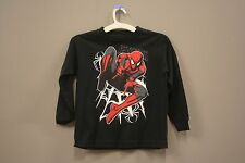 THE AMAZING SPIDER - MAN BLACK T-SHIRT...MARVEL..FOR KIDS..SIZE: LARGE..A.D.