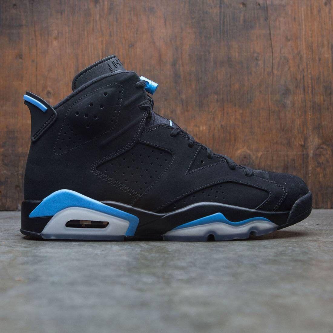 2017 Nike Air Jordan 6 VI Retro Black University Blue Size 12. 384664-006