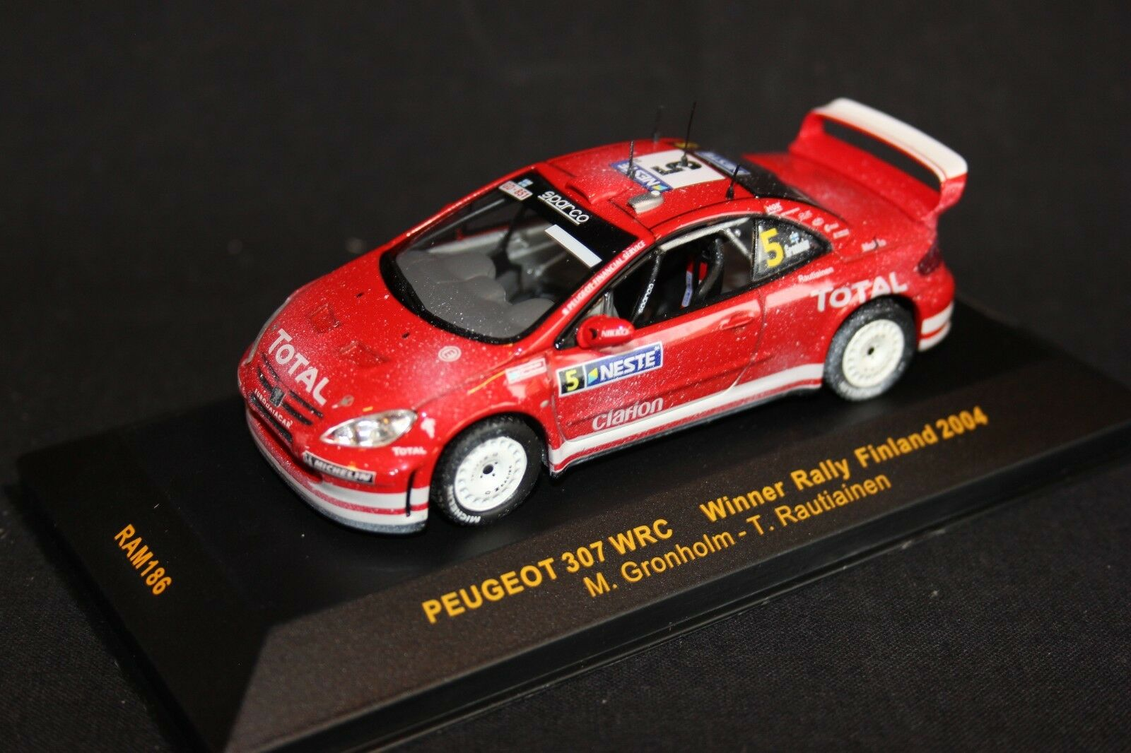 Ixo peugeot 307 wrc 2004 1 43   5 gr ö nholm   rautiainen gewinner finnland - rallye