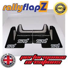 Mudflaps SUBARU FORESTER (04-08)  rallyflapZ 3mm PVC Black STI style logo White