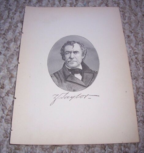 1889 ZACHARY TAYLOR Print 12th President United States of America
