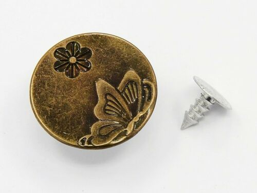 Knöpfe Vintage bronze Metallknöpfe 10 Jeansknöpfe Schmetterling