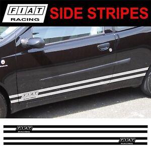 Fiat-Punto-Brava-Bravo-Stilo-Uno-Seitenstreifen-Aufkleber-Sticker-Grafiken
