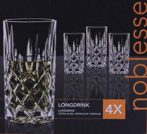 nachtmann longdrink gl ser noblesse 4er set saftglas glas kristallglas ebay. Black Bedroom Furniture Sets. Home Design Ideas