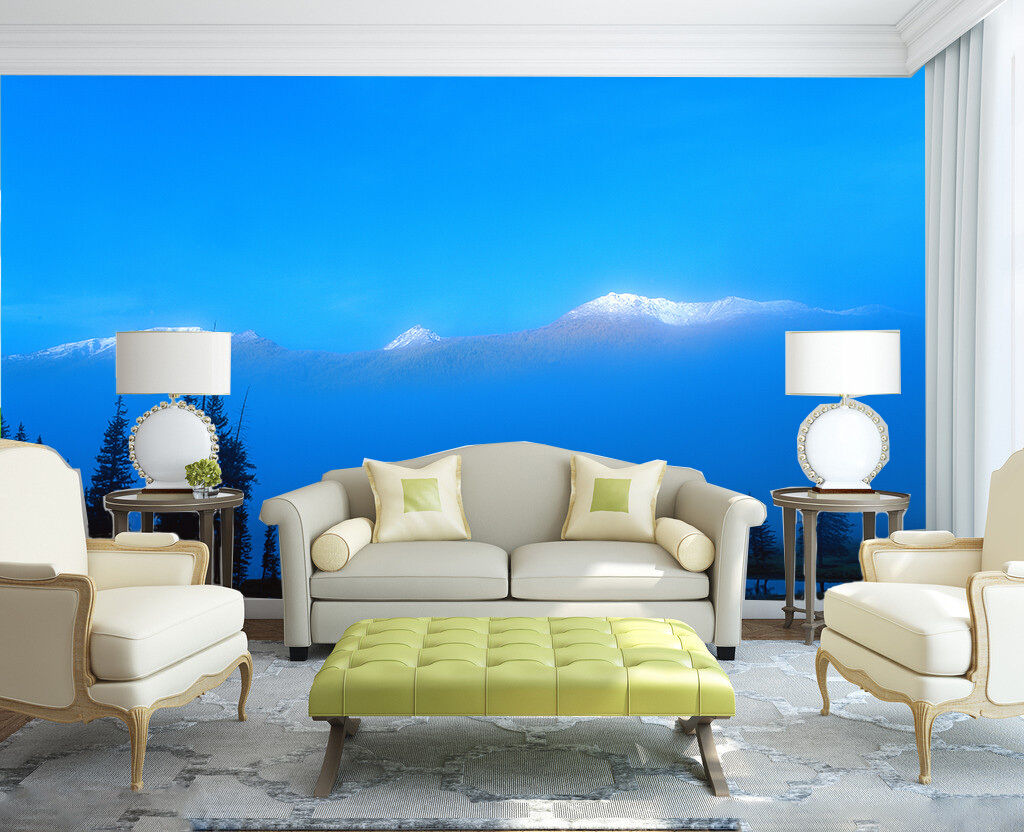 3D Snow Mountains Lake Scenery 31 Wall Paper Wall Print Decal Wall AJ Wall Paper