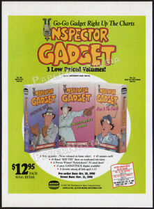INSPECTOR-GADGET-Original-1990-Trade-Print-AD-advert-promo-DiC-Animation