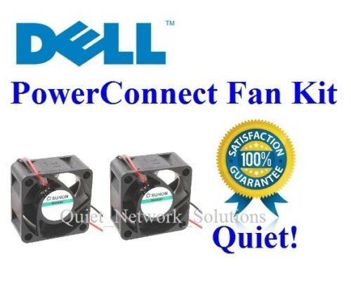 Low Noise G0487, D0801, K0288 Lot 2x Quiet fans for Dell PowerConnect 3324