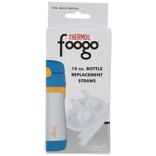 Bottle Replacement Straw Set 2-Pack Clear Thermos Foogo 10 oz
