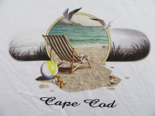 Vintage CAPE COD Beach Scene Seagulls Beach Chair