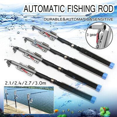 Portable High Carbon rod Telescope Fishing Rod Travel Sea Pole 270cm *UK SELLER*