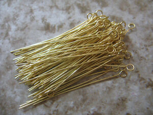 Silver-Gold-Plated-Eye-Pins-Needles-Jewelry-Findings-20-25-30-35-40-50mm