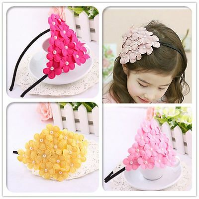 Kids Girl Flower Crown Garland Lace Floral Hairband Headband Wedding Accessories