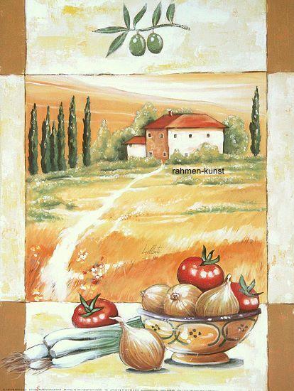Luigi Alberti  in giro per la la la Toscana COMPLETO-immagine 50x70 Immagine Muro Cucina Toscana 53a385