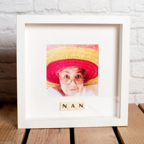 Mamie Personnalisé Scrabble Cadre pour Maman Gran-Choisissez Votre Légende Nana