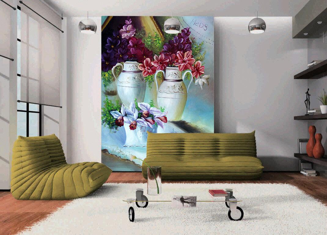Papel Pintado Mural De Vellón Flor De Estilo Europeo 2 Paisaje Fondo De Pansize