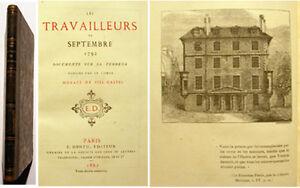 TERREUR-TRAVAILLEURS-DE-SEPTEMBRE-VIEL-GASTEL-1862-RARE