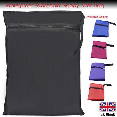 UK  Waterproof Reusable Washable Nappy Wet Bags or Sport//Swim//PE Bag