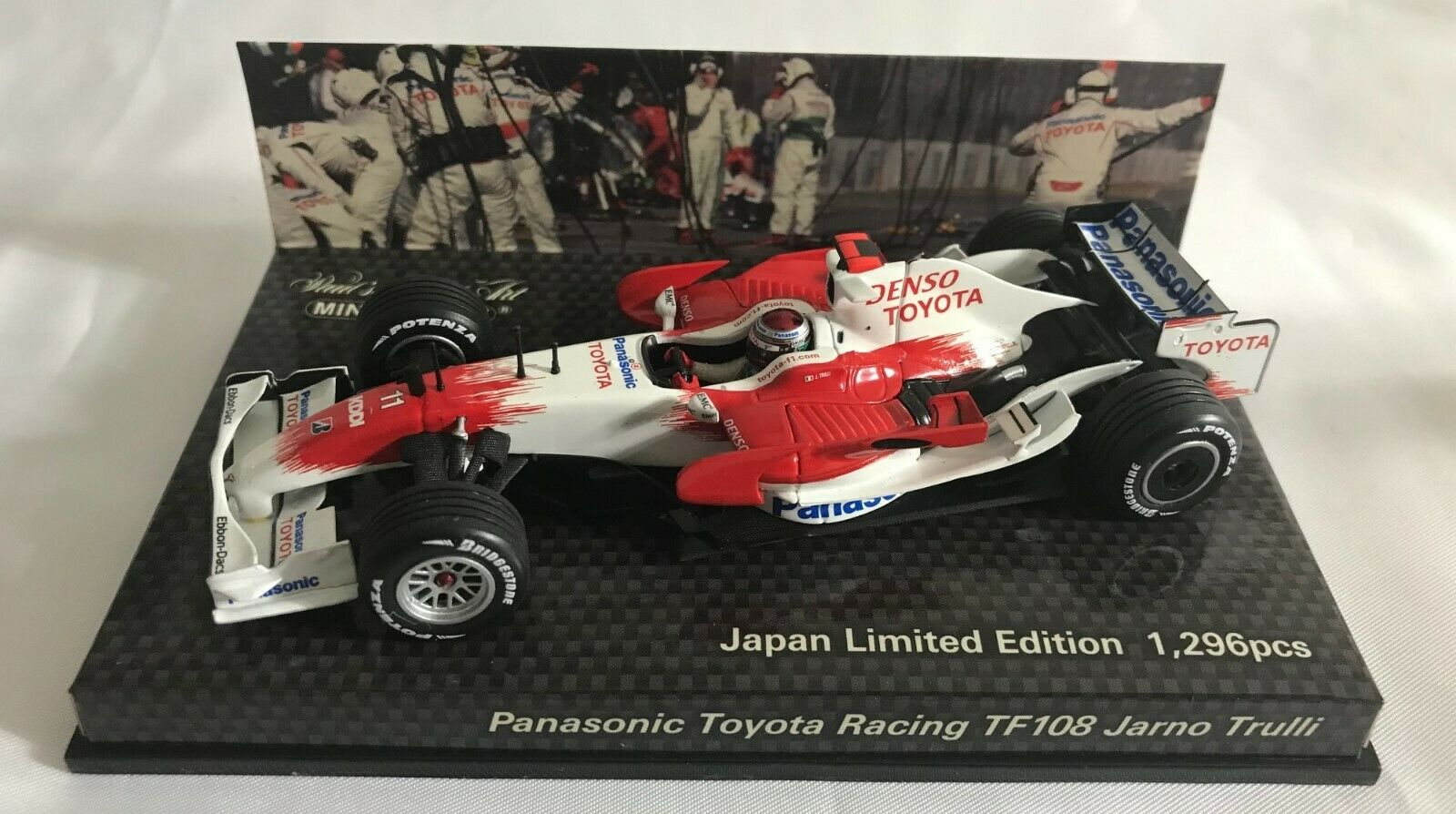 MINICHAMPS 1 43 Panasonic TOYOTA Racing TF108 J.Trulli  11 Japan AM61151