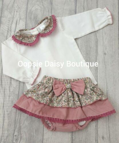 Girls Gorgeous Spanish Pink Floral Jam Pants /& Blouse Sets ⭐