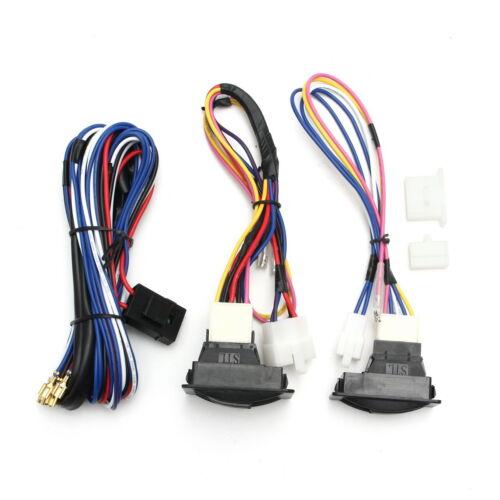 6Pcs 12V Universal Power Window Switch Kits With Installation Wiring Harness