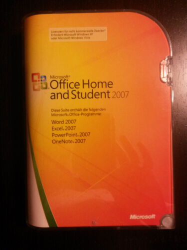 1 von 1 - Microsoft Office 2007 Home and Student / Vollversion / deutsch / Retailbox
