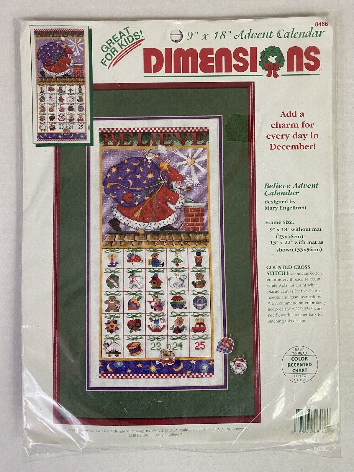 NEW Dimensions Needlepoint Kit BELIEVE STOCKING by Mary Engelbreit CHRISTMAS
