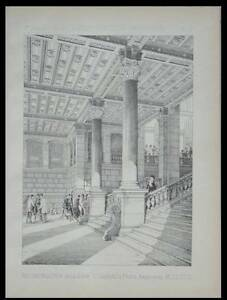 PARIS, GARE SAINT LAZARE - 1888 - PLANCHE ARCHITECTURE - JUSTE LITSCH