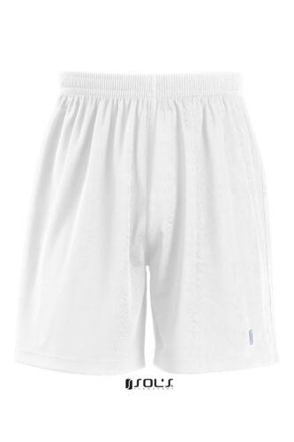 2XL White Uk Freepost SOLS Mens San Siro 2 Sports Training Football Shorts M