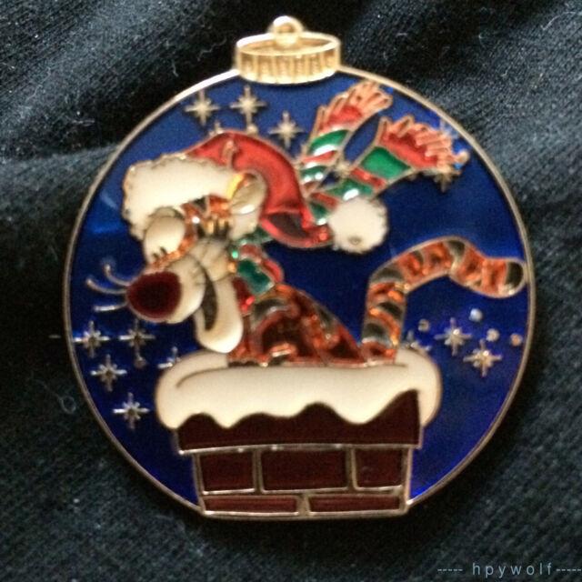 RARE Disney SANTA TIGGER Christmas Ornament Mystery Tin LE 600 Pin Pooh HTF
