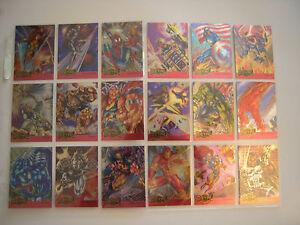 MARVEL-METAL-SUB-SET-COMPLET-18-CARDS-METAL-BLASTER-1995-TBE
