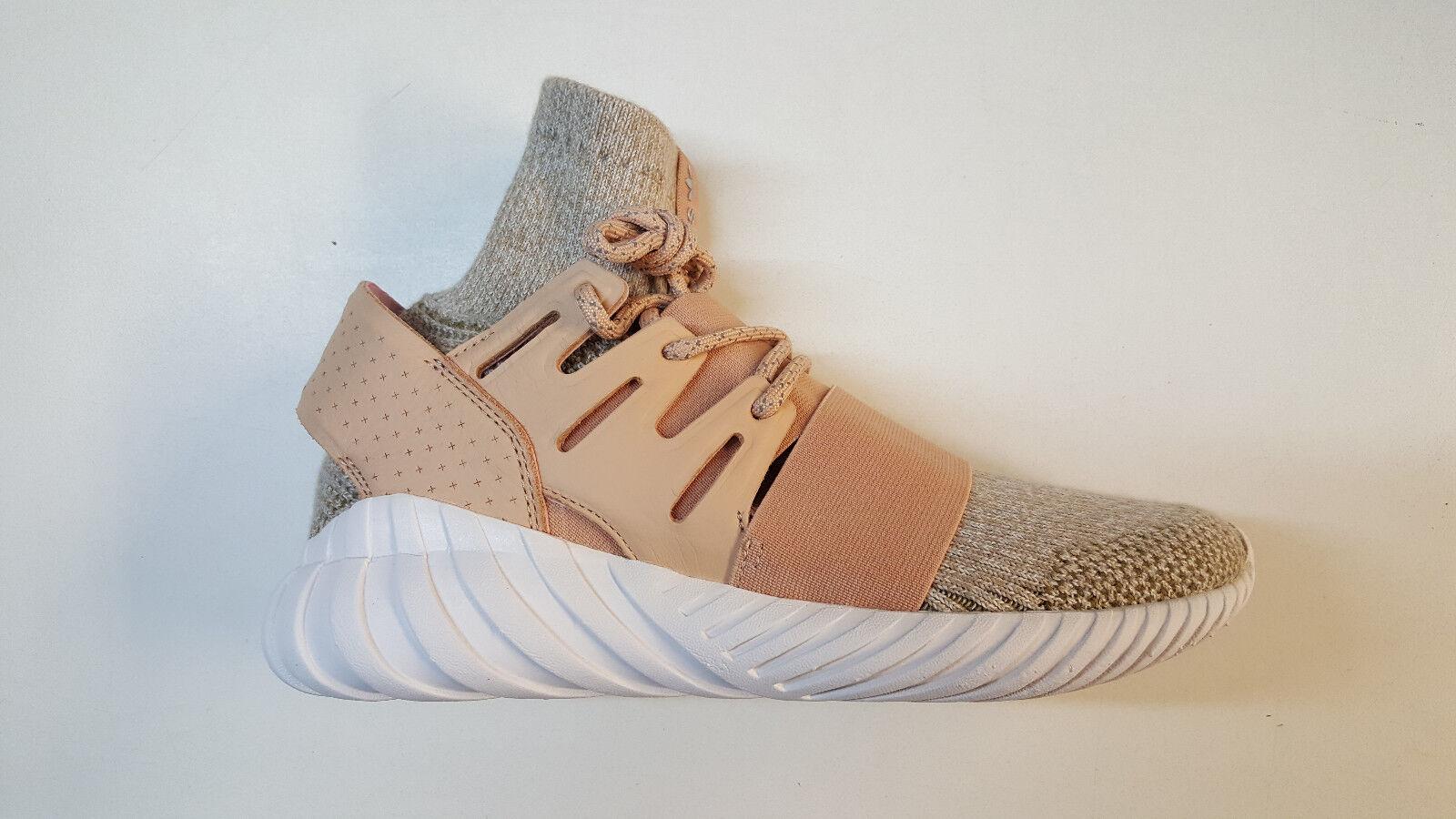 Adidas Originals Tubular Doom Primeknit Beige Peach Mens shoes BB2390 1705-82