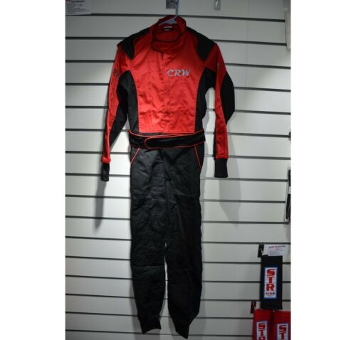 CRW Junior Pit Crew Suit Non Fireproof Kids Overalls Red Pink or Blue