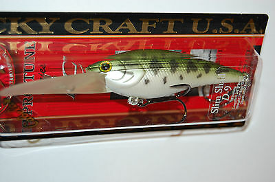 "lucky craft slim shad d-7 2 1//2/"" 5//16oz bass crankbait tennessee shad"