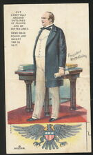 PATRIOTIC TRADE CARD, PRES. MCKINLEY- CORDOVA COFFEE, DANNEMILLERS CO CANTON, OH
