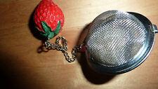 Betjeman Barton TEA INFUSER Strawberry Metal Filter Strainer Gourmet Chic BNIB!!