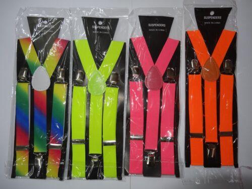 Braces Clip on Trouser Braces Gangster Braces Dance Braces in Assorted Colours
