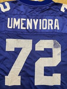 Details about osi umenyiora New York Giants VINTAGE Reebok NFL Equipment Jersey