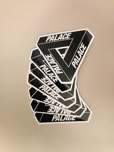 8d30c74b2cd6 1 Authentic Palace Skateboards Tri-Ferg Black Sticker from Official ...