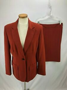 Focus-2000-Women-039-s-Windowpane-Skirt-Suit-10