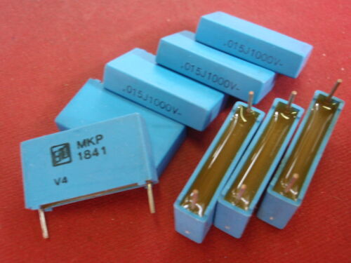 Condensateur MKP 0,015µf = 15nf 1000v = rm ~ 23mm 26x6x14mm bipolaire 8x 24495