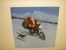 NORTH COUNTRY RIDER TOM LOVELL BEAGLE HUSKY DOG MOTORCYCLE SANTA CHRISTMAS NEW