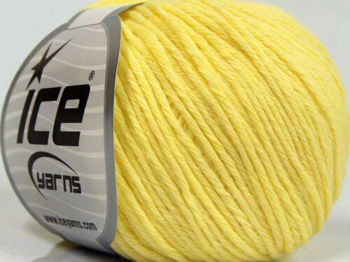 10/% Baby Alpaca 15/% Kid Mohair Yarn Yellow Lot of 8 Skeins Ice Yarns MILANO DK