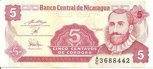 Nicaragua-5-Centavos-de-Cordaba-ND-buen-estado