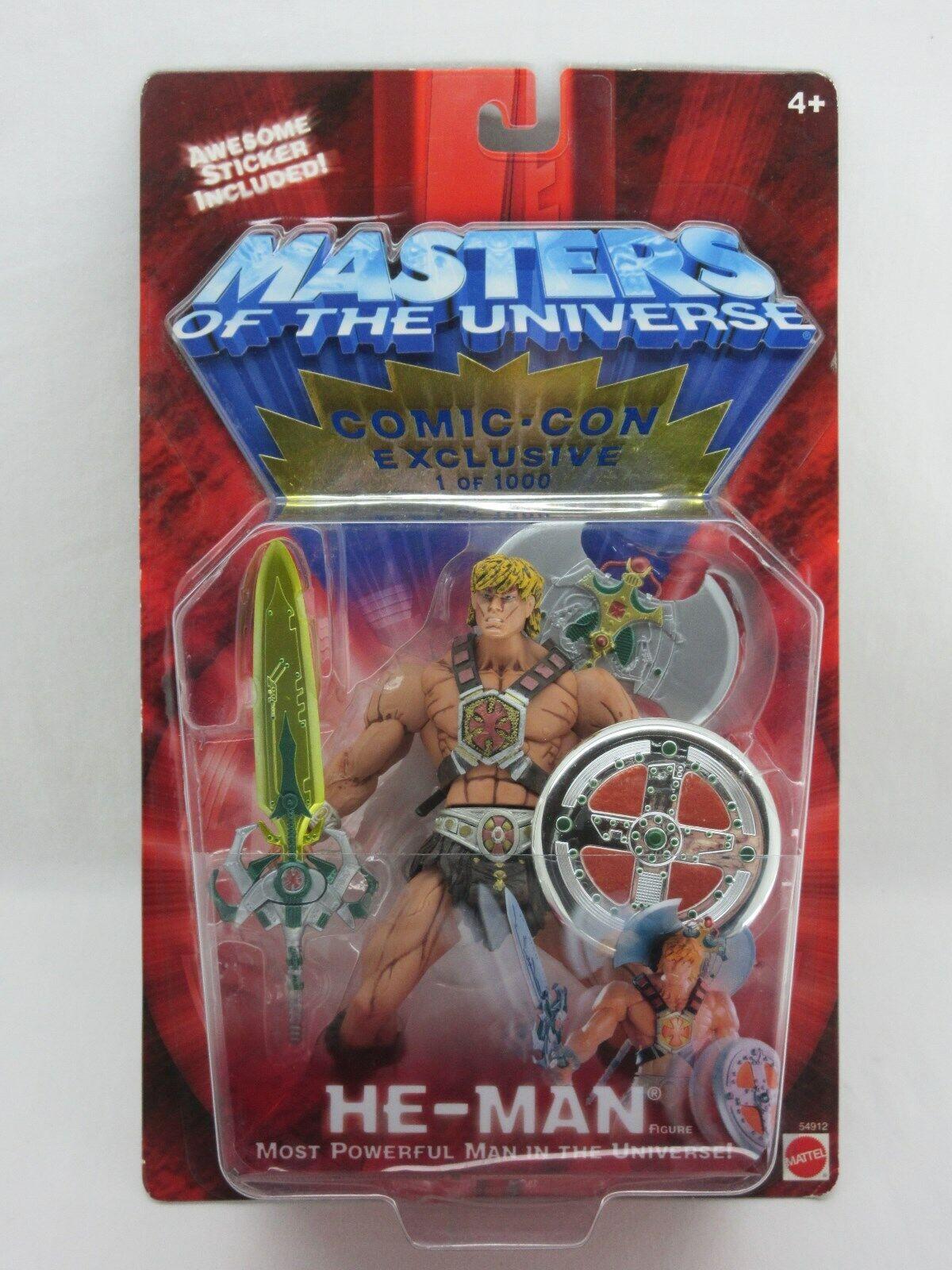 Masters of the Universe, 200X He-Man, Bd escroc Exclusive,  941, Maîtres de l'univers, Comme neuf on Card, Scellé